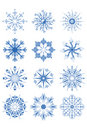 Decorative Snowflake Ornaments Royalty Free Stock Images