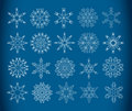 Decorative snowflakes Stock Photos