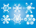 Decorative snowflakes Stock Image