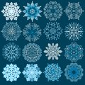 Decorative snowflakes vector set this is file of eps format Stock Photo