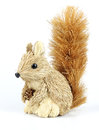 Decorative squirrel made out of natural materials Royalty Free Stock Photos