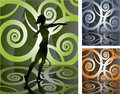 Decorative stage background Stock Photo