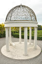 Decorative steel gazebo dome Royalty Free Stock Photo