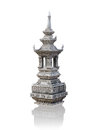 Decorative stone pagoda in thai temple isolated Royalty Free Stock Photography