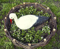 Decorative stork in the garden Royalty Free Stock Photo