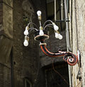 Decorative street light in sienna italy one of the mant lights Stock Photos