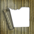 Decorative striped sheet detached from the base Royalty Free Stock Photo