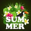 Decorative summer background