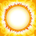 Decorative sun vector background Royalty Free Stock Photography