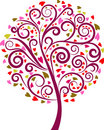 Decorative swirl floral tree, vector Royalty Free Stock Photography