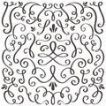 Decorative swirls. Swirled vintage ornament, swirling border and simple frame. Swirl decoration border vector graphic