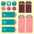 Decorative tags set Royalty Free Stock Photo