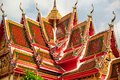 Decorative temple rooftop Royalty Free Stock Image