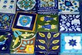 Decorative Tiles, Oia, Greece Royalty Free Stock Photo