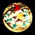 Decorative toy santa dog Royalty Free Stock Photo
