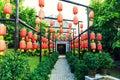 Asian Chinese Red Lantern, Chi...