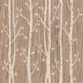 Decorative trees on seamless background - Blasted Oak Groove Royalty Free Stock Photo