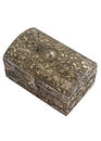 Decorative trinket box isolated white background Royalty Free Stock Images