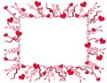 Decorative Valentine Hearts Frame or Border Royalty Free Stock Photo