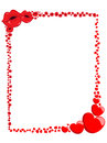 Decorative valentine love frame or border illustration featuring hearts and kisses eps file is available Stock Photography