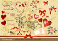 Decorative valentine's elements for design Royalty Free Stock Photography