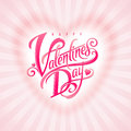 Decorative Valentines day greeting Royalty Free Stock Images