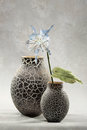 Decorative vases and flowers Stock Photo