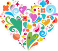 Decorative vector heart for Valentines day Royalty Free Stock Photo