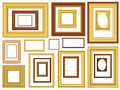 Decorative Vector Picture Frames Stock Photos