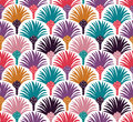 Decorative vector seamless pattern with palm trees. Royalty Free Stock Photo