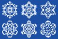 Decorative vector Snowflakes set 2 Royalty Free Stock Image