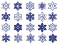 Decorative vector snowflakes set of Royalty Free Stock Photography