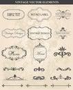 Decorative vintage set of calligraphic design elements Royalty Free Stock Photo