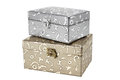 Decorative vintage small chests Stock Photo