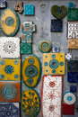 Decorative wall tiles in Porto, Portugal Royalty Free Stock Photo