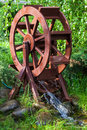 Decorative water wheel Royalty Free Stock Photo