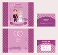 Decorative Wedding Invitation Cards Set