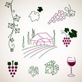 Decorative wine elements illustration of Royalty Free Stock Photography