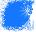 Decorative winter background Stock Photography