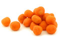 Decorative winter carrots balls Stock Photo