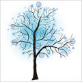 Decorative winter tree Royalty Free Stock Photos