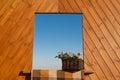 Decorative wood window Royalty Free Stock Photo