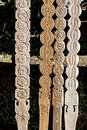Decorative wooden carved traditionally romanian and exposed for sale Stock Photography