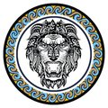 Decorative Zodiac sign Leo Royalty Free Stock Photo