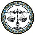 Decorative Zodiac sign Libra Royalty Free Stock Photo