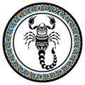 Decorative Zodiac sign Scorpio Royalty Free Stock Photo