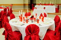 Decore table all set for wedding guest for seating Royalty Free Stock Image
