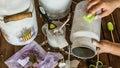 Decoupage - Decorating Milk Ch...
