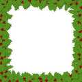 Decoupage Holly Frame Royalty Free Stock Image