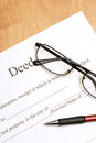 Deed Papers Royalty Free Stock Photo